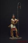 Индеец Абсароки (Ворон) - Оловянный солдатик коллекционная роспись 54 мм. Все фигурки расписываются художником вручную