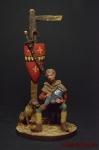 Мальчик-оруженосец с собакой - Оловянный солдатик коллекционная роспись 54 мм. Все фигурки расписываются художником вручную