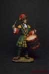 Гренадерский барабанщик лейб-гвардии Преображенского полка, 1708 - Оловянный солдатик коллекционная роспись 54 мм. Все фигурки расписываются художником вручную