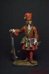 Обер-офицер гренадерских полков армейской пехоты, 1710-е гг. - Оловянный солдатик коллекционная роспись 54 мм. Все фигурки расписываются художником вручную