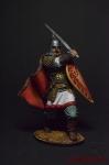 Рязанский воевода боярин Евпатий Коловрат, 1238 год - Оловянный солдатик коллекционная роспись 54 мм. Все фигурки расписываются художником вручную
