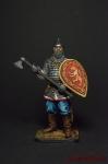 Русский воин с топором, 14 век - Оловянный солдатик коллекционная роспись 54 мм. Все фигурки расписываются художником вручную