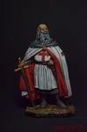 Жак де Моле, магистр ордена тамплиеров, 1244-1314 гг. - Оловянный солдатик коллекционная роспись 54 мм. Все фигурки расписываются художником вручную