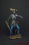 Немецкий рыцарь, 1500 год - Оловянный солдатик коллекционная роспись 54 мм. Все фигурки расписываются художником вручную