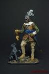 Германский кавалерист с собакой, 1650 год - Оловянный солдатик коллекционная роспись 54 мм. Все фигурки расписываются художником вручную
