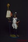 Старший сержант - орлоносец 4-го лин. плк. Франция, 1805 - Оловянный солдатик коллекционная роспись 54 мм. Все фигурки расписываются художником вручную