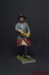Шведский кавалерийский офицер, 1710-е годы - Оловянный солдатик коллекционная роспись 54 мм. Все фигурки расписываются художником вручную