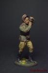 Военный фотокорреспондент ст. лейтенант, 1943-45 СССР - Оловянный солдатик коллекционная роспись 54 мм. Все фигурки расписываются художником вручную