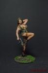 Девушка с АКС - Оловянный солдатик коллекционная роспись 54 мм. Все фигурки расписываются художником вручную