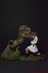 Геракл и лев - Оловянный солдатик коллекционная роспись 54 мм. Все фигурки расписываются художником вручную