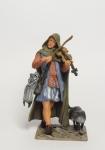 Скрипач c кошкой - Оловянный солдатик коллекционная роспись 54 мм. Все оловянные солдатики расписываются художником вручную