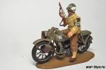 Военная Полиция США на мотоцикле Harley WL