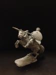 Конный монгол с копьем - Челубей , войско Мамая,  Смола, 54 мм.