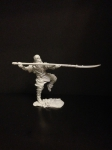Пеший монах с нагината на одной ноге, 16 век  Смола, 54 мм.
